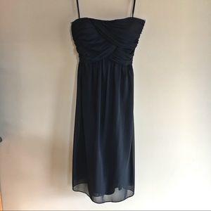 Strapless Black Chiffon Dress